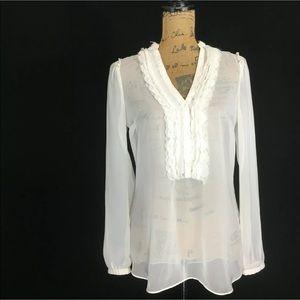 White House Black Market 4 Top Blouse Sheer Tunic